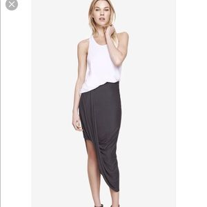Express asymmetrical skirt